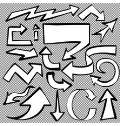 arrows set sketch hand drawn cartoon vector image
