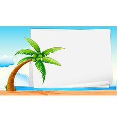 Banner with beach vector image