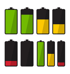Battery icon simple energy symbol vector