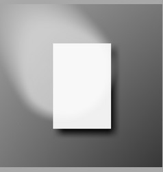 Blank white a4 paper with round spot light vector