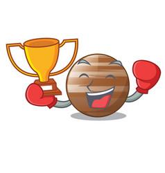 Boxing winner craft jupiter planet in the vector