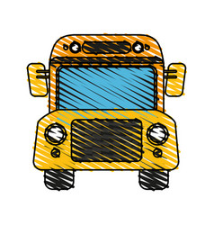 Bus school transport vector