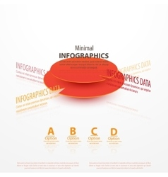 Business Infographics circle origami vector