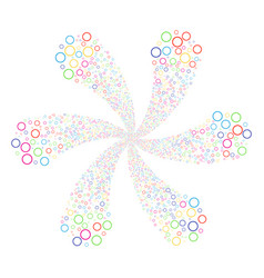 Circle bubble twirl flower cluster vector