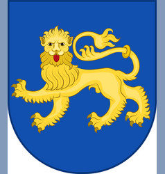 Coat of arms of varde in southern denmark region vector