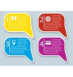 Colorful Sticky Speech Bubbles vector image