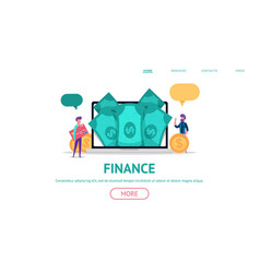 concept for finance business web vector image