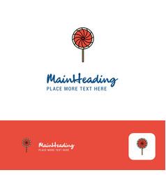 creative lollypop logo design flat color logo vector image
