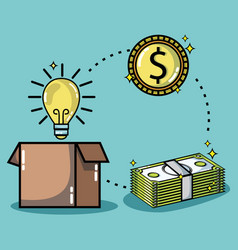 crowdfunding finance company and economy support vector image
