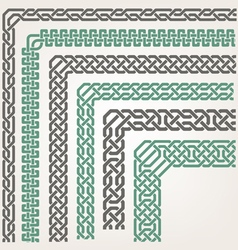 Decorative seamless islamic ornamental border vector