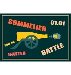 Design for wine event Sommelier battle party vector