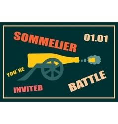 Design for wine event Sommelier battle party vector image