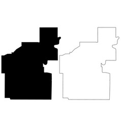 Edmonton city canada alberta province map vector