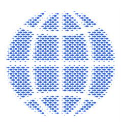 fish globe collage vector image