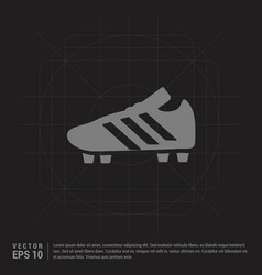 Football boot icon - black creative background vector