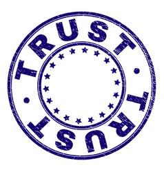 Grunge textured trust round stamp seal vector