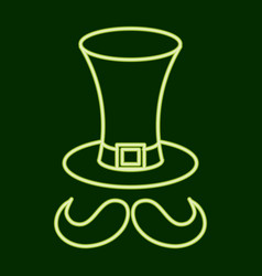 Hat and mustache stpatrick s day vector