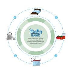 healthy habits lifestyle concept vector image