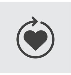 Heart reload icon vector image