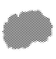 Honeycomb makedonia map vector