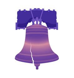 Independence day of the usa liberty bell vector