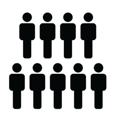 male icon group of people symbol avatar sign vector image
