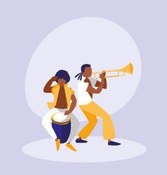 mambo band avatar character vector image