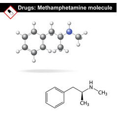 Methamphetamine recreational drug vector