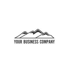 minimalist mountain logo vector image