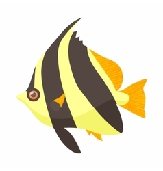 Moorish idol fish icon cartoon style vector image