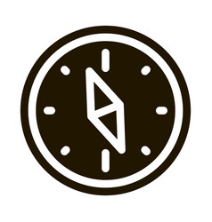 Navigational compass tool icon vector