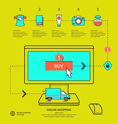Online Store Infographics Poster vector