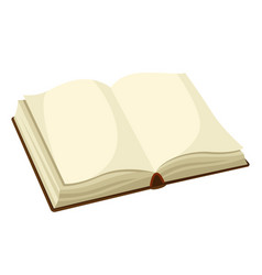 open blank book for education and vector image