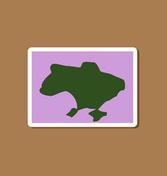Paper sticker on stylish background map of ukraine vector