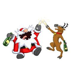 Party christmas cartoon toast vector