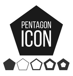pentagon icon 5 five sided symbol vector image