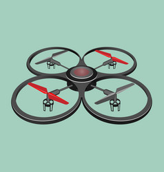 Quadrocopter isolated on light green background vector