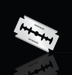 razor blade silver vector image