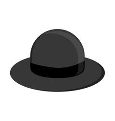 Retro hat icon vector