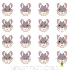 set mouse faces vector image