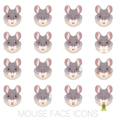 Set of Mouse faces vector