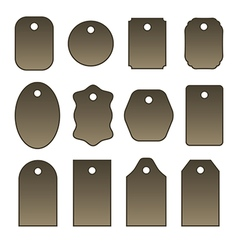 Set of tags labels tickets and stickers vector
