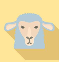 Sheep head icon flat style vector