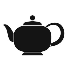 teapot with handle icon simple style vector image