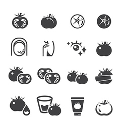 tomato icon set vector image