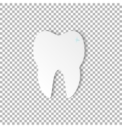 Tooth dental on transparent background vector