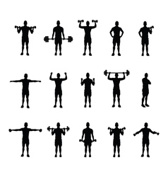 training group black vector image