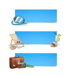Travel Banner Set vector