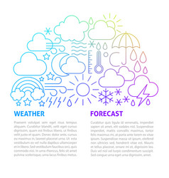 weather forecast line template vector image