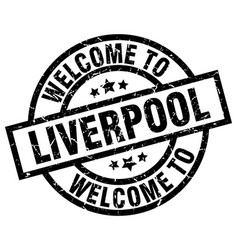 Welcome to liverpool black stamp vector